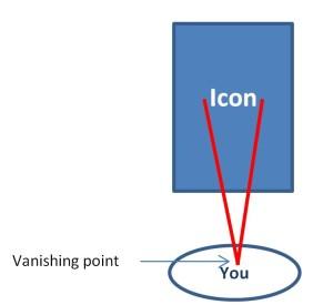 Icon vanishing point