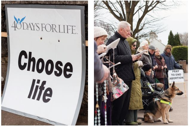 Choose life pro life vigil